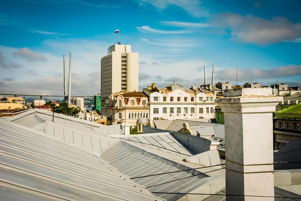 Крыши города Владивостока