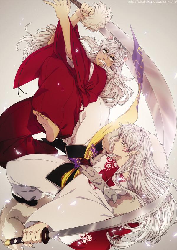 Братские распри. Anime Art, Аниме, InuYasha, Sesshomaru, Challele