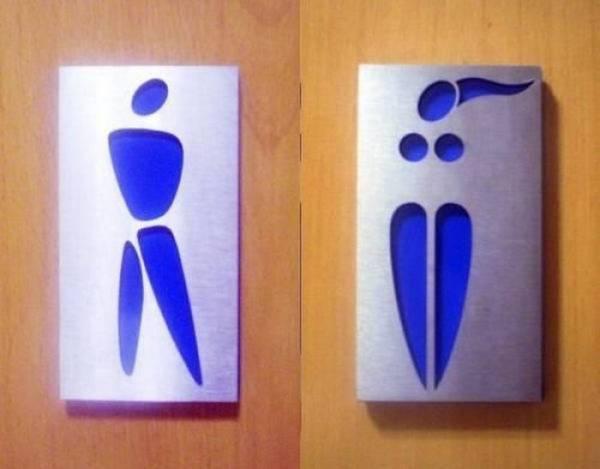 Необычные туалетные таблички Юмор, Туалет, Туалетный юмор, Табличка, Различия, Точка зрения, Длиннопост