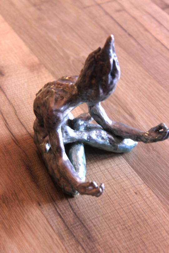 В поисках гармонии Скульптура, Марго Резник, Горящий человек, Ручная работа, Длиннопост