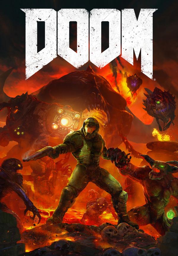 Doom poster Jesper Andersen, Арт, Doom, Игры, Постер, Длиннопост