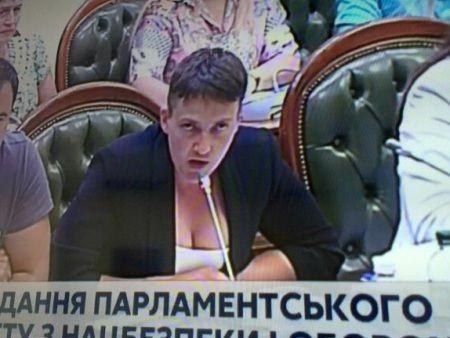 Украинские СМИ опубликовали фото Савченко, поразившей своим декольте на заседании Рады Савченко, новости, Украина, политика