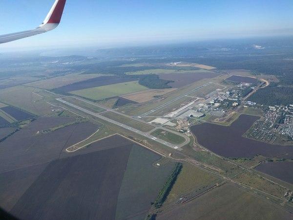 Аэропорт Курумоч(Самара) с птичьего полета