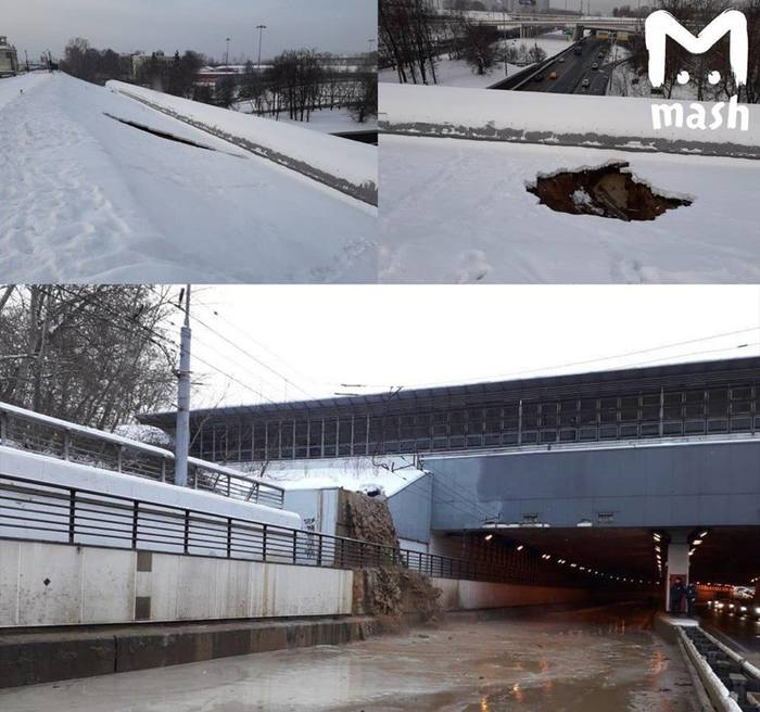 В Москве затопило Тушинский тоннель Тушино, Тоннель, Прорыв, Потоп, Всемирный потоп
