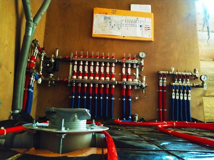 КАСИМОВО, часть 1 Теплый пол, Отопление, Отопление и вентиляция, Котельная, Водоснабжение, Коттедж, Батарея отопления, Длиннопост