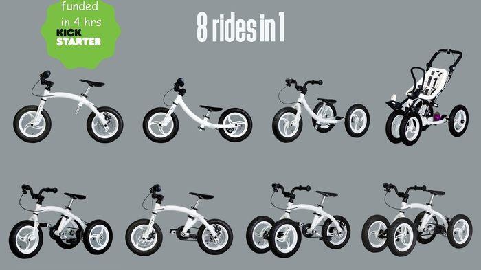 Monkeycycle: 8-в-1 велосипед, который растет вместе с вашим ребенком Велосипед, Kickstarter, Видео