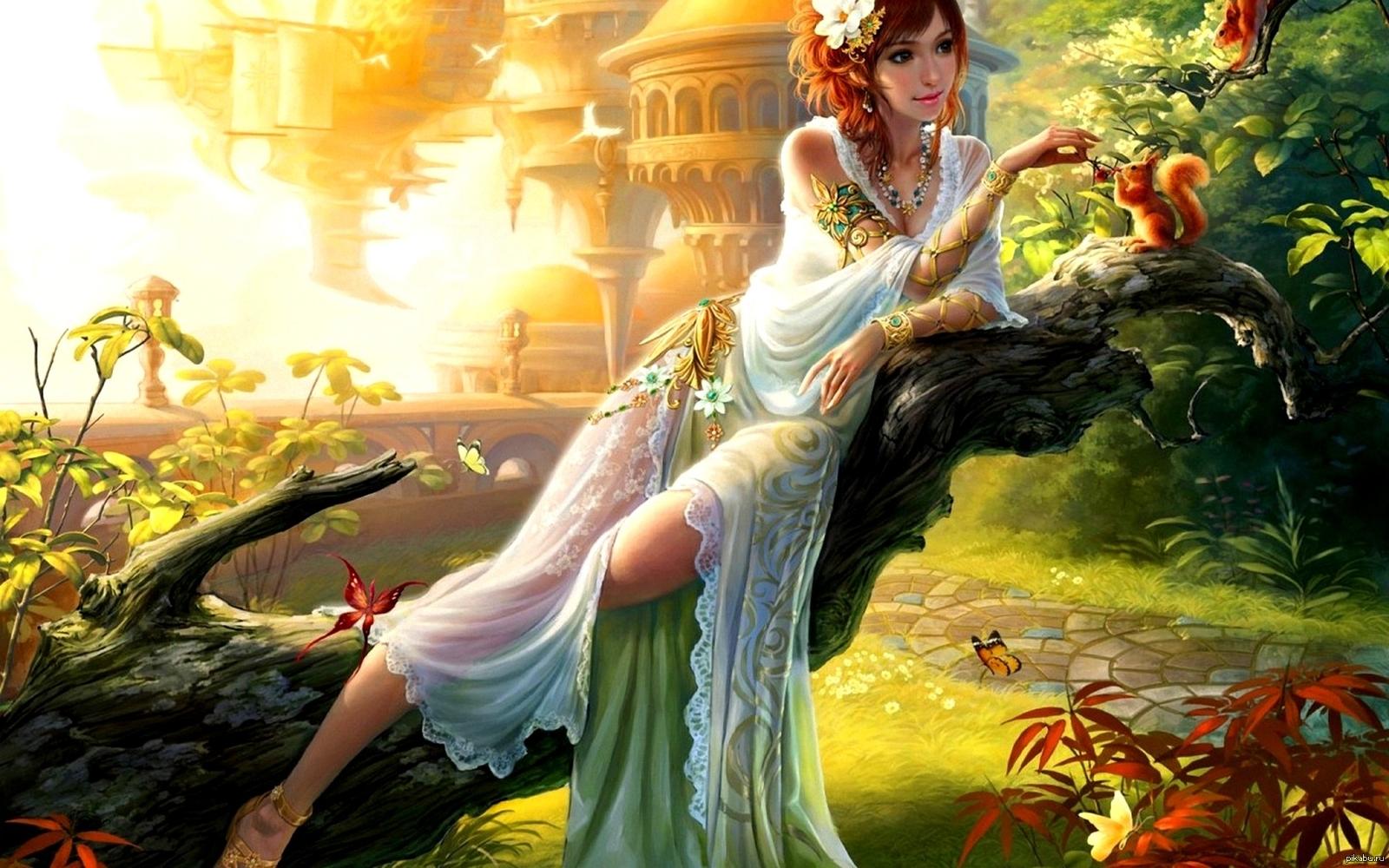 Красивые сказочные девушки в картинках