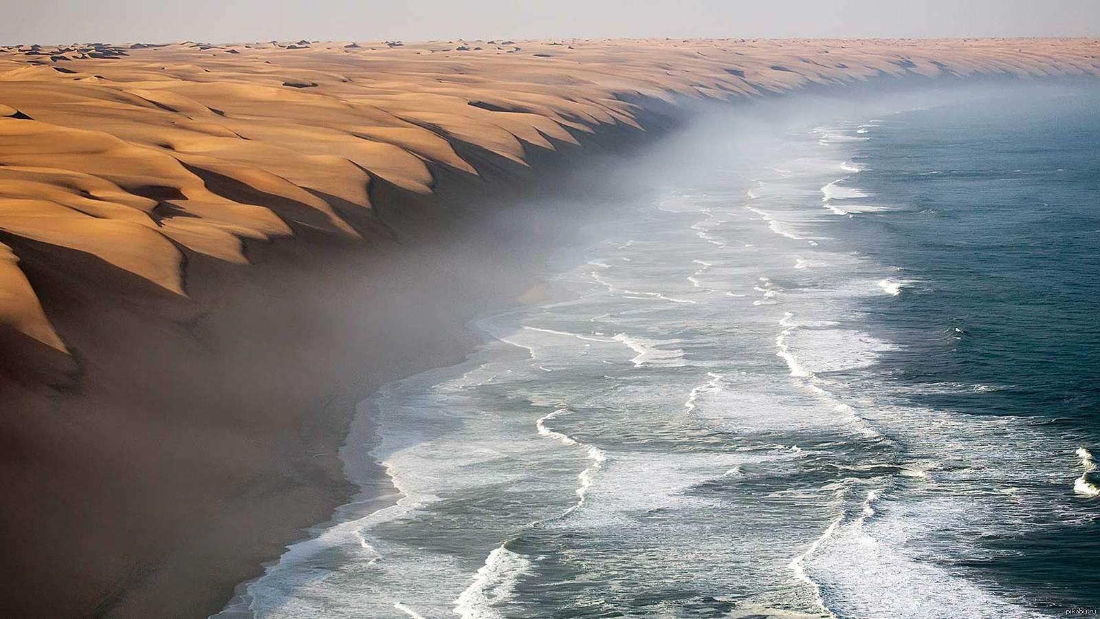 просмотра этих пустыня намиб встречается с морем фото то