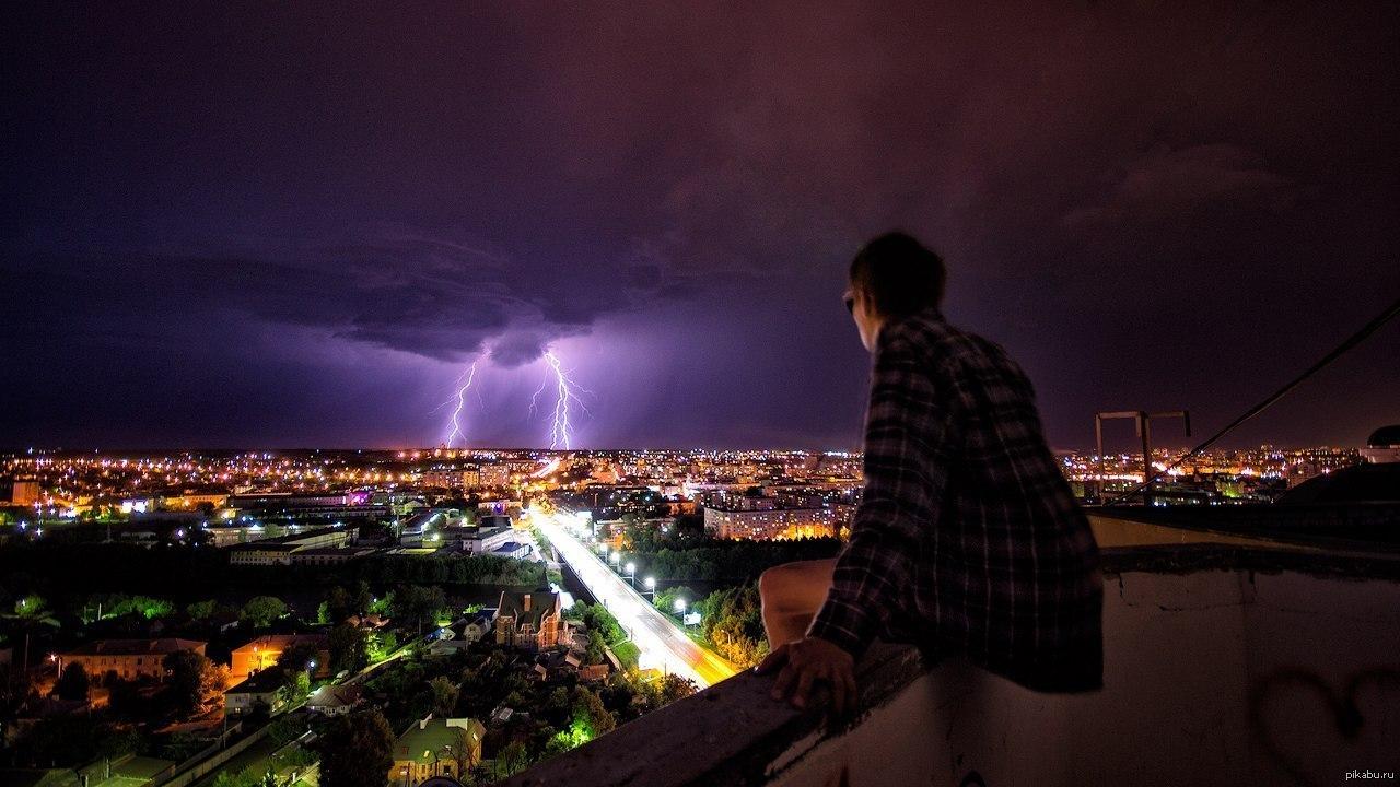 катя, наблюдая полет в ночном городе картинка внимание прессы
