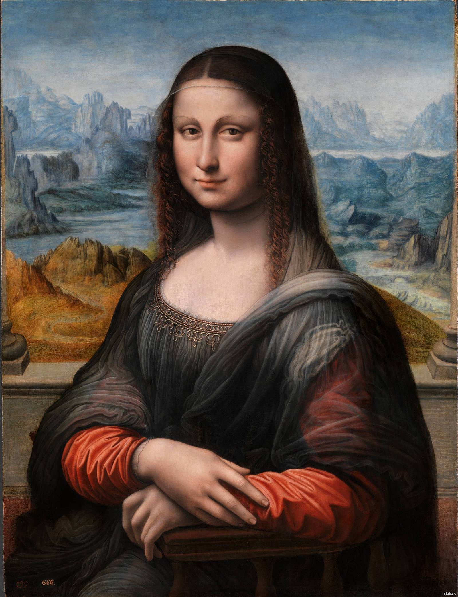 Мона Лиза по-дель-Прадо, как полагают эта картина была сделана учеником Леонардо да Винчи, в то же время, что и оригинал.   Пикабу