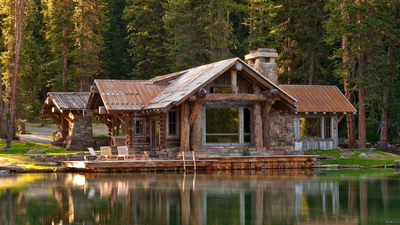 дом у озера фото
