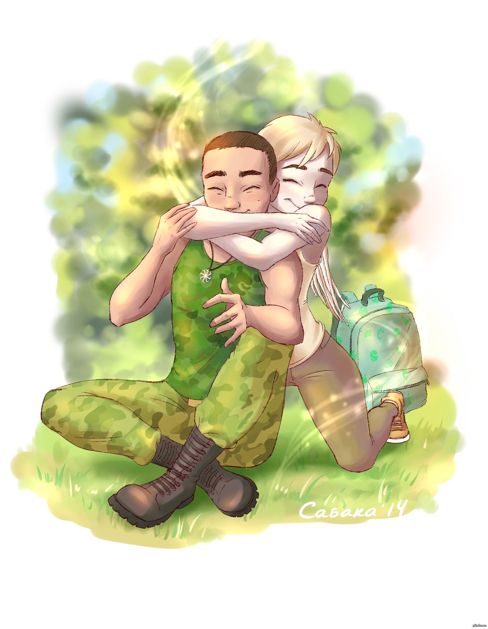Открытки девушке солдата, чая картинки фото