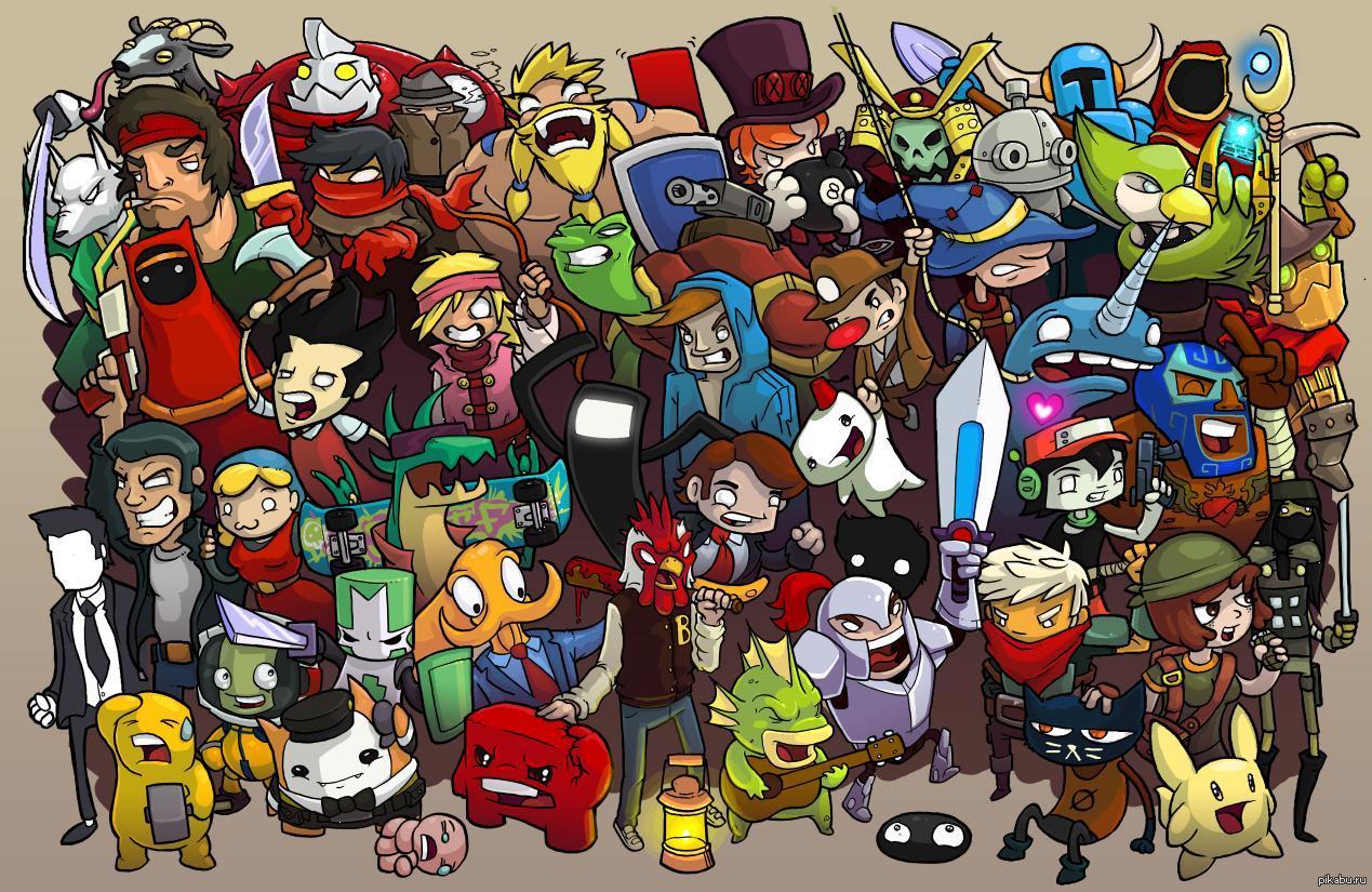 персонажи игр картинки прикольные