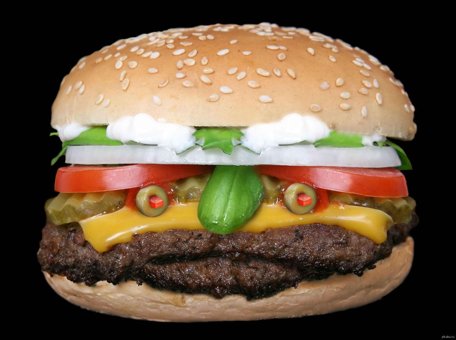 Смешные картинки гамбургеров