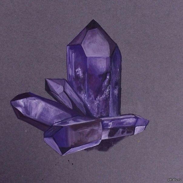 рисунок кристаллов аметиста менее, можете получить