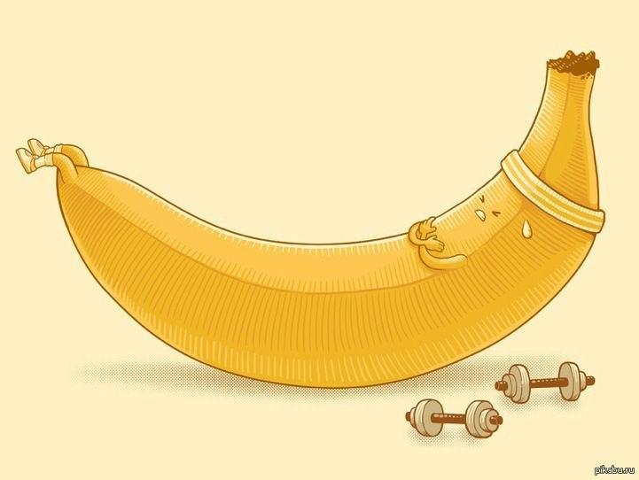Для открытки, картинки бананы прикол