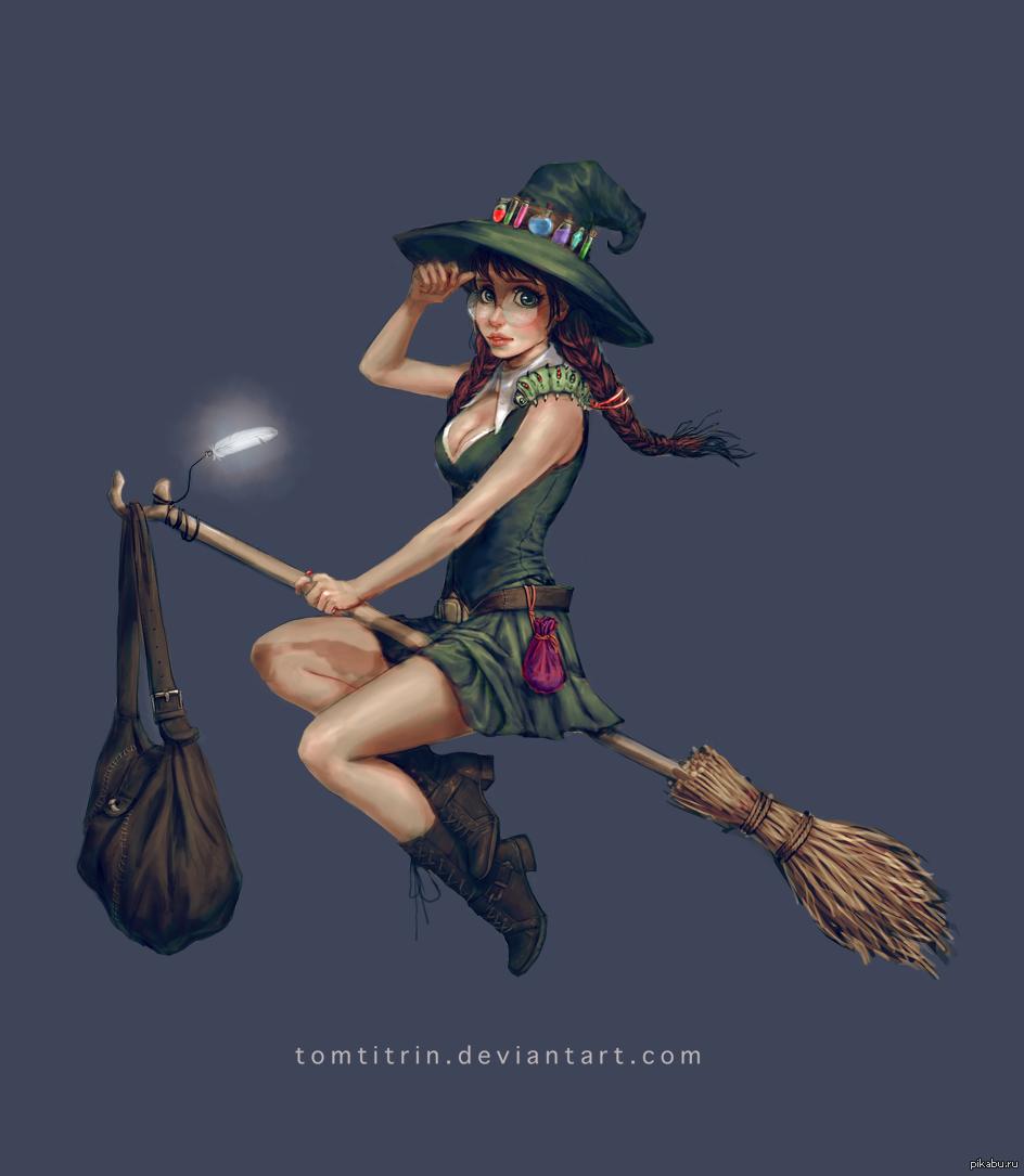 Картинки с метлой ведьмы