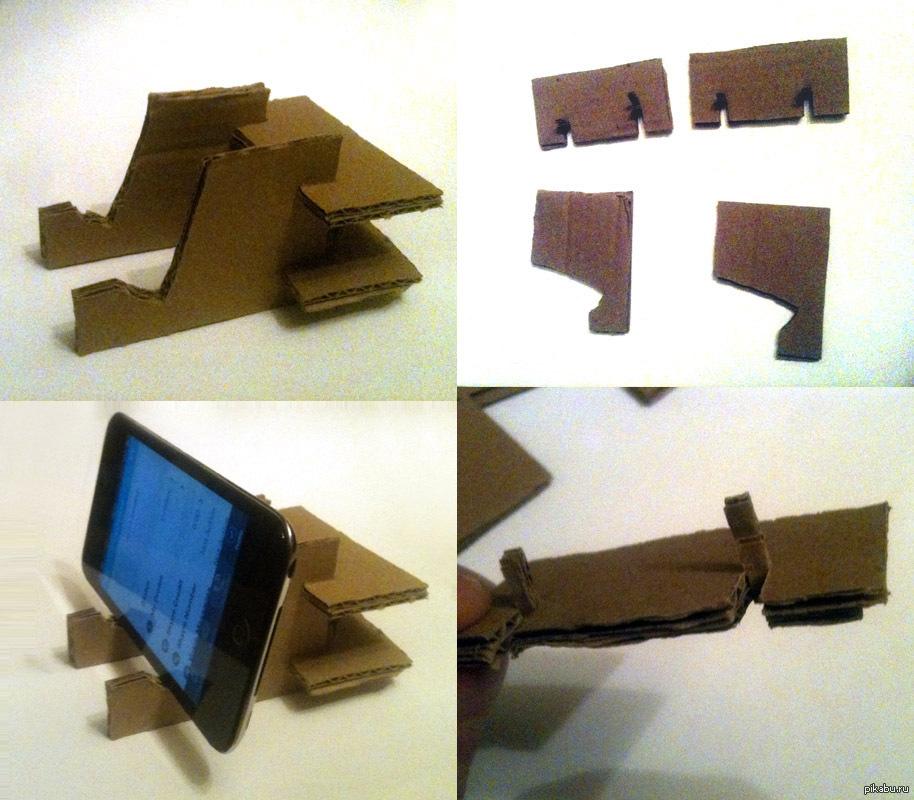 Подставка из картона для планшета своими руками 63