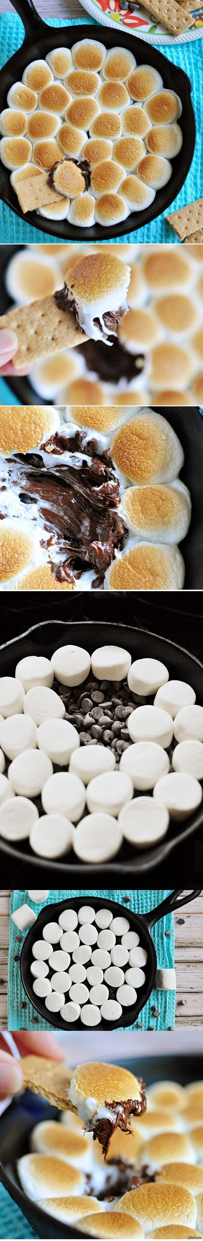 зефир с шоколадом в духовке