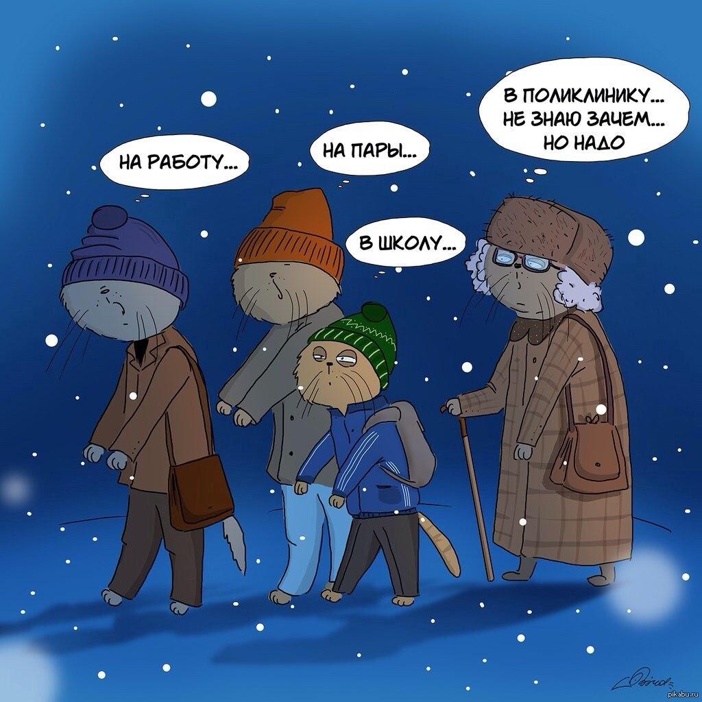 Картинки про холодное утро прикольные