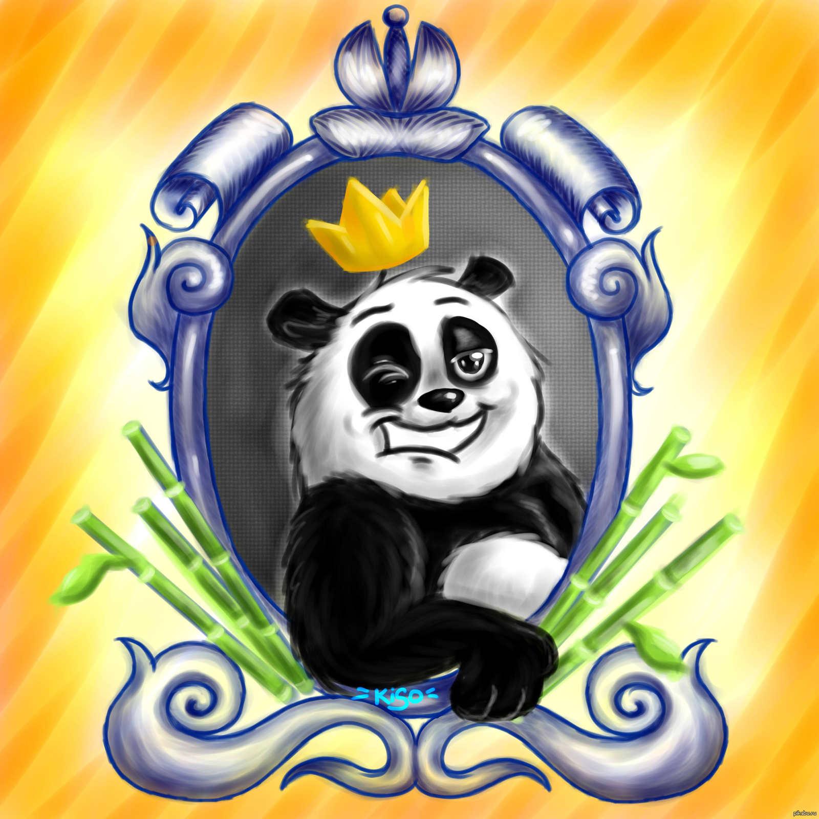 Крутые панды рисунки, открытки