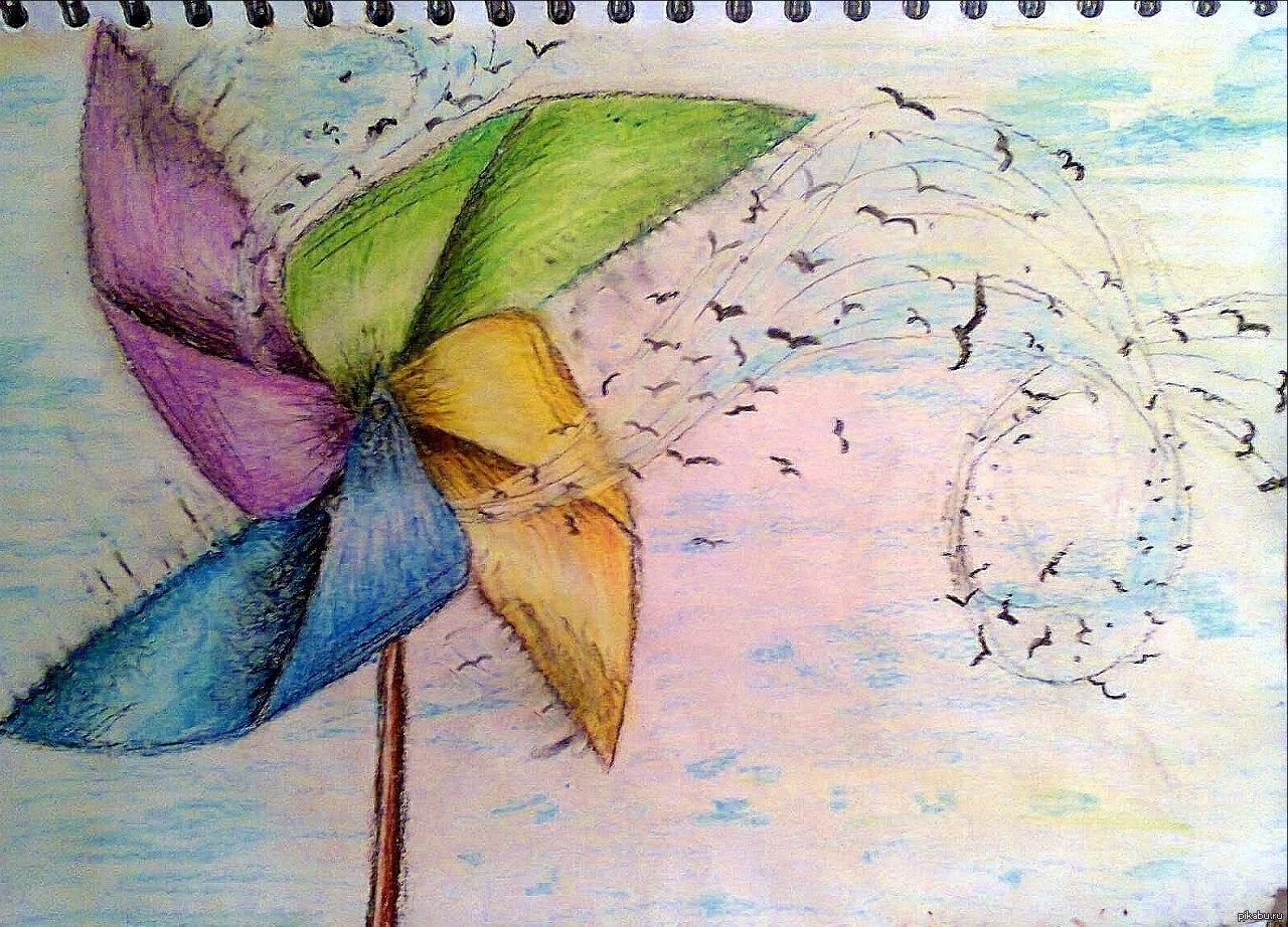 Картинка с ветром для детей