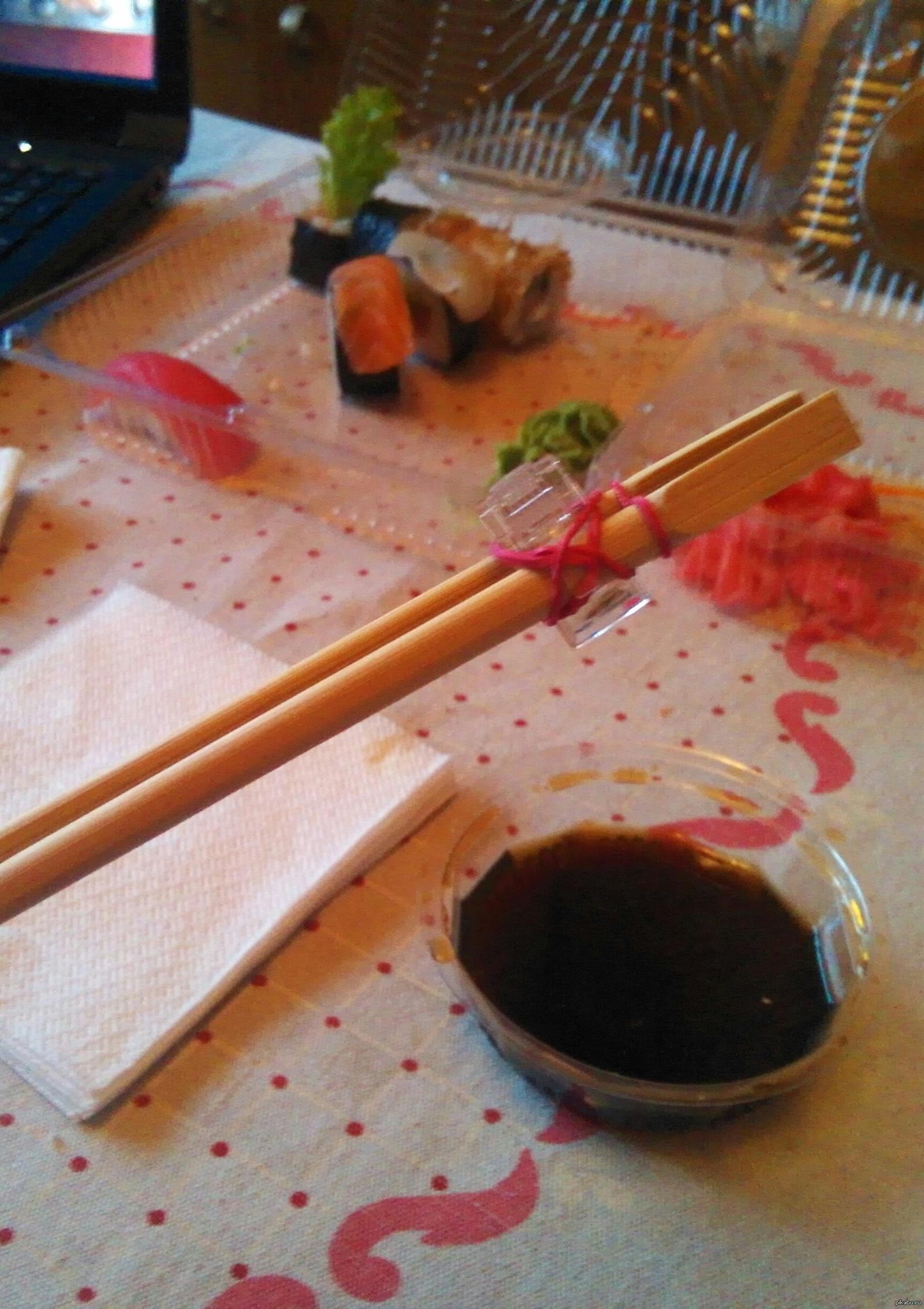 Как сделать учебные палочки для суши фото 407