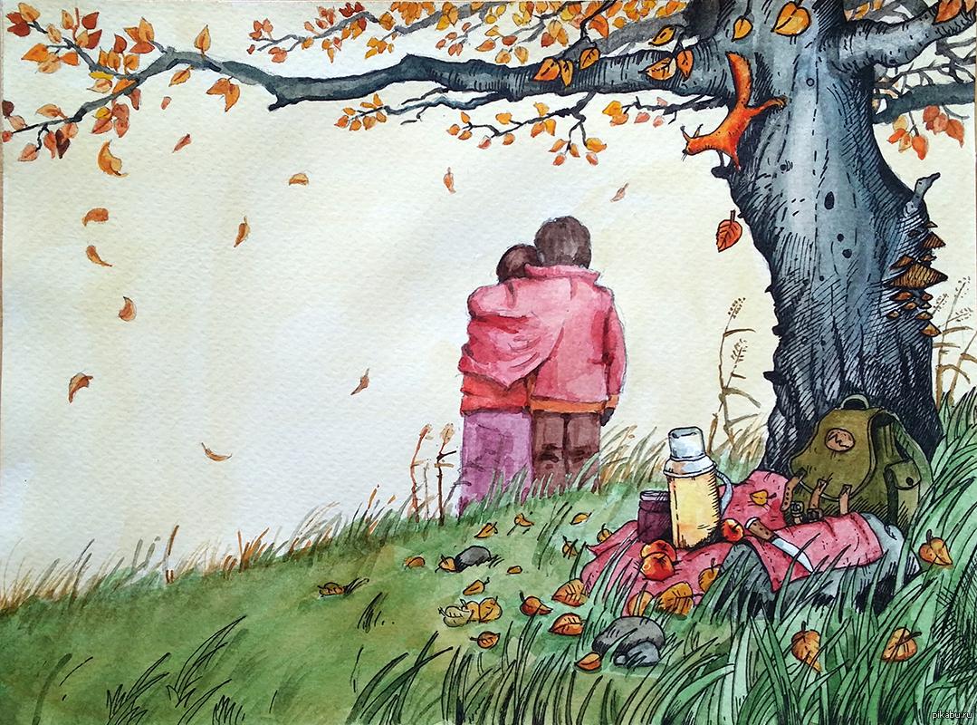 Прикольные картинки тему осень