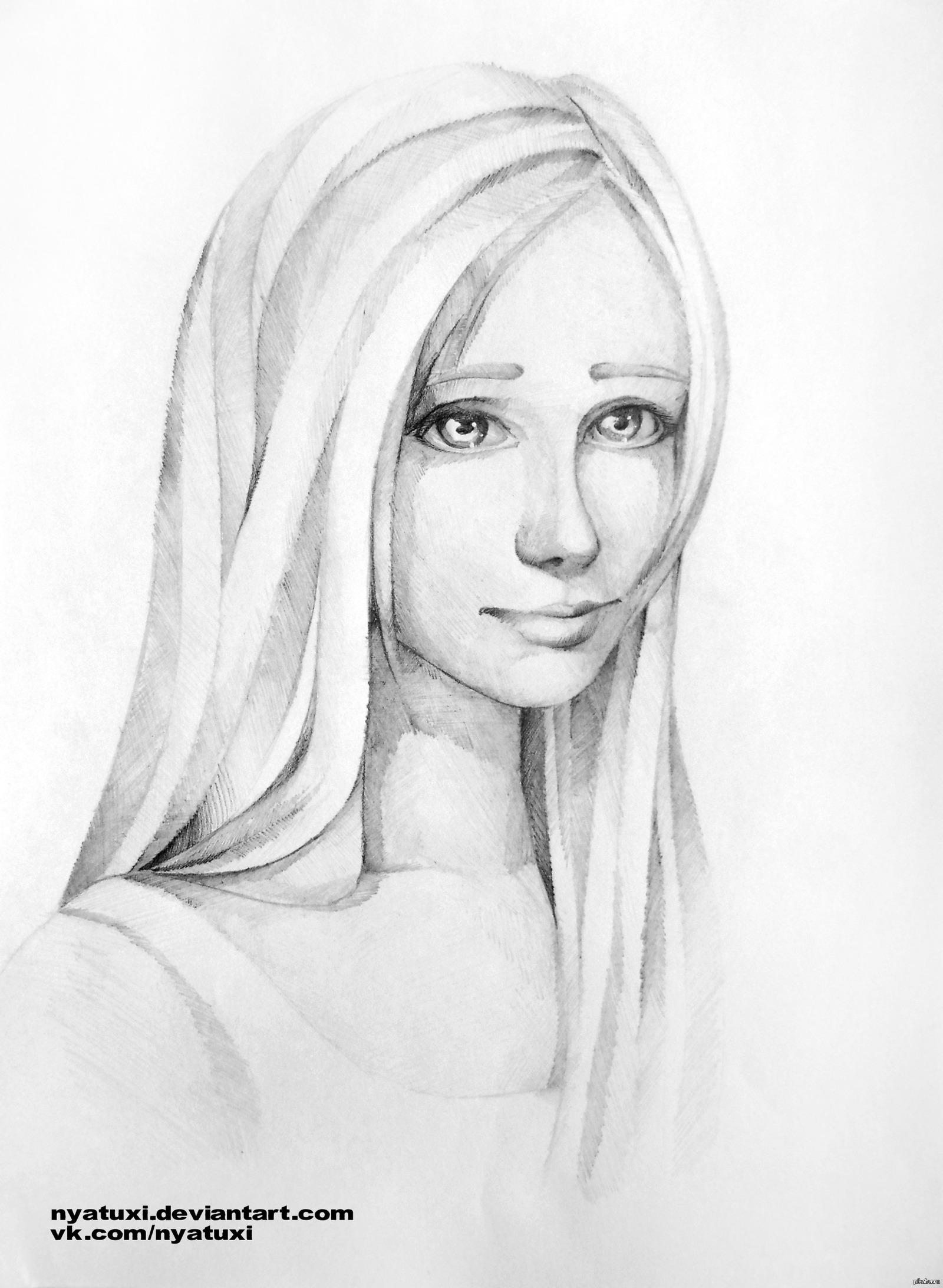 Картинки карандашом легкие портреты