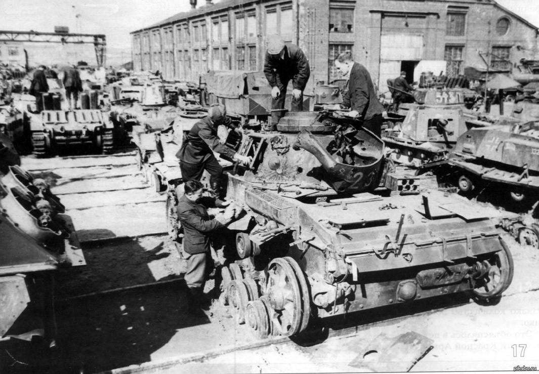 Реставрация немецкой бронетехники фото