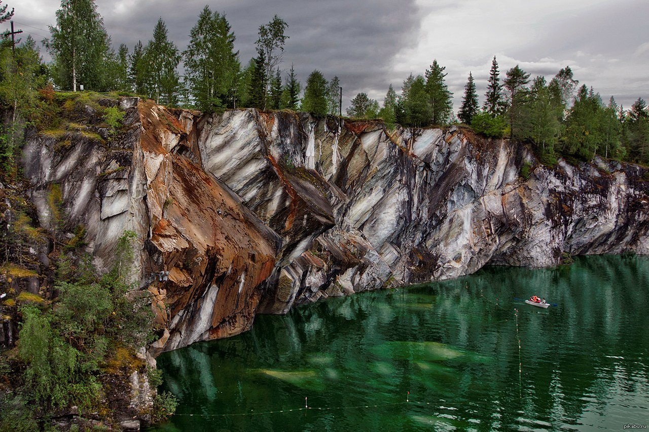 карелия фото мраморный каньон