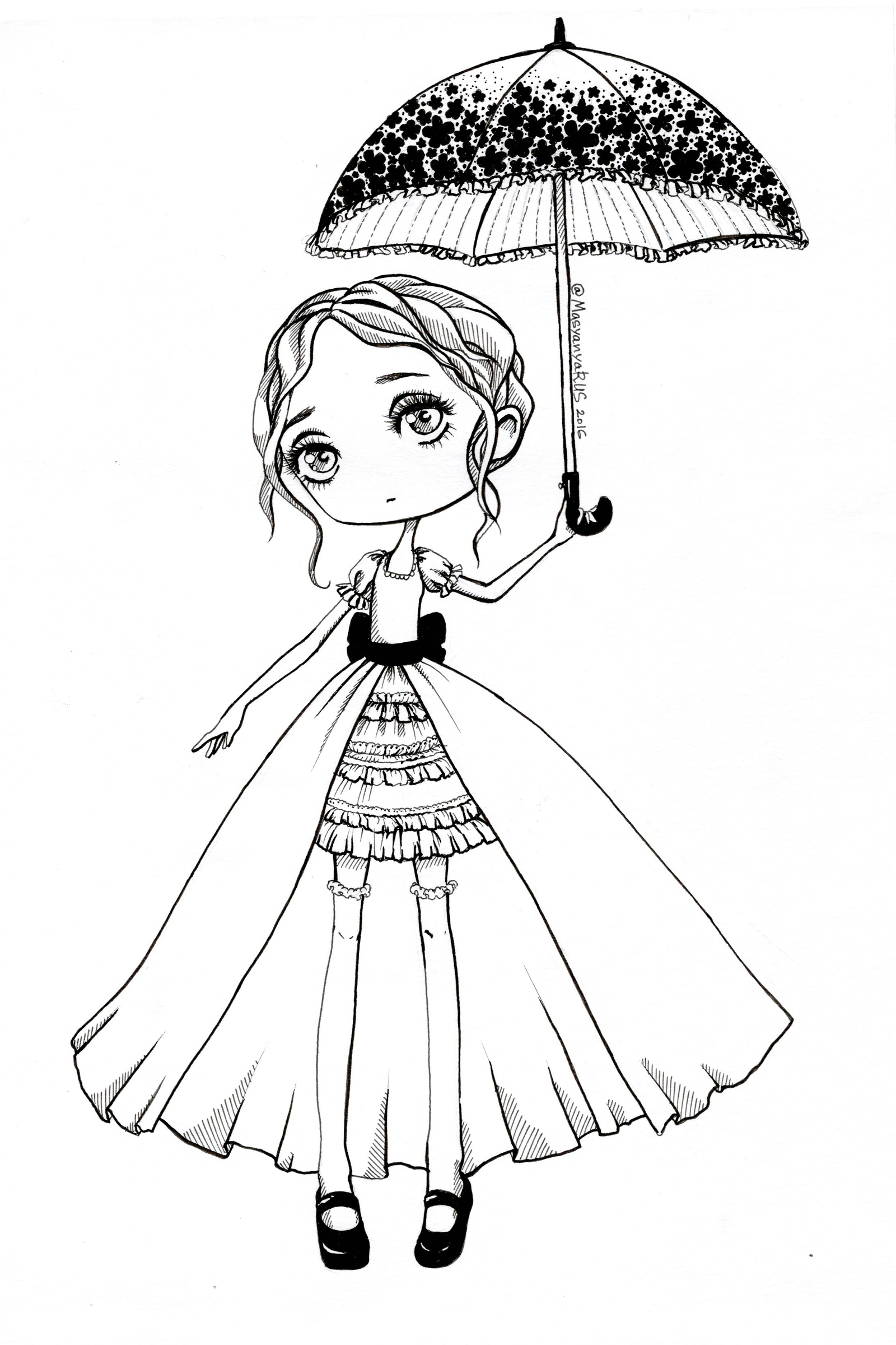 картинки девушки рисунки