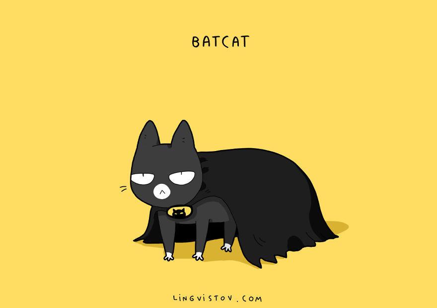 Картинки коты супергерои