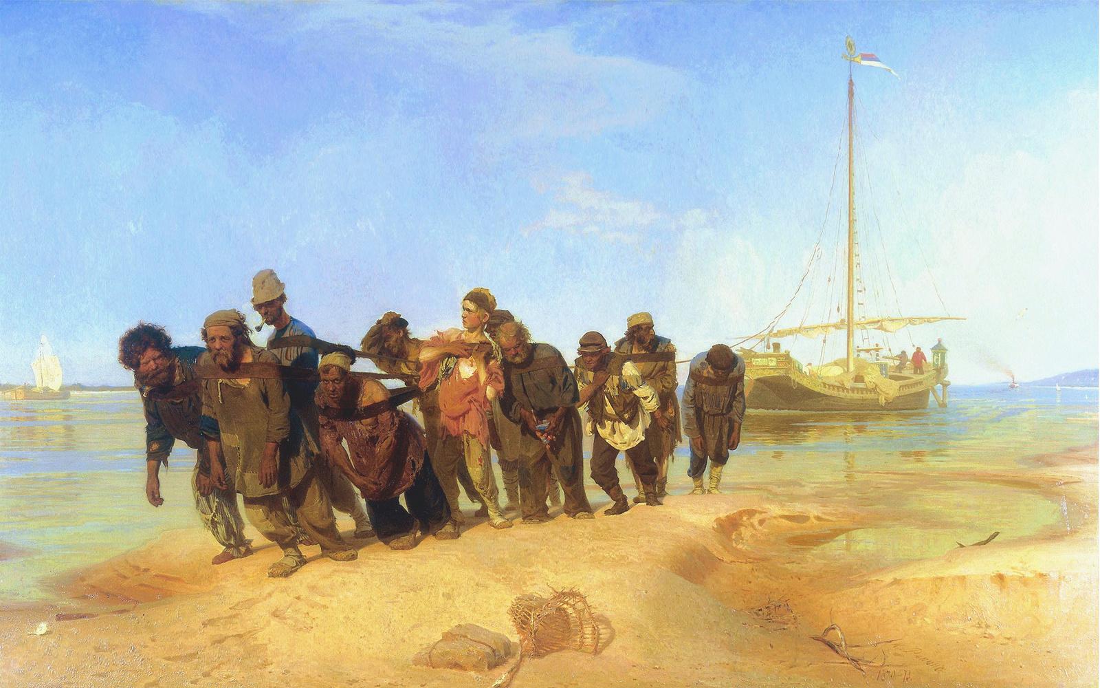 Обои Пейзаж с Грозой, картина, дома, Клод Моне, лодка. Разное foto 9