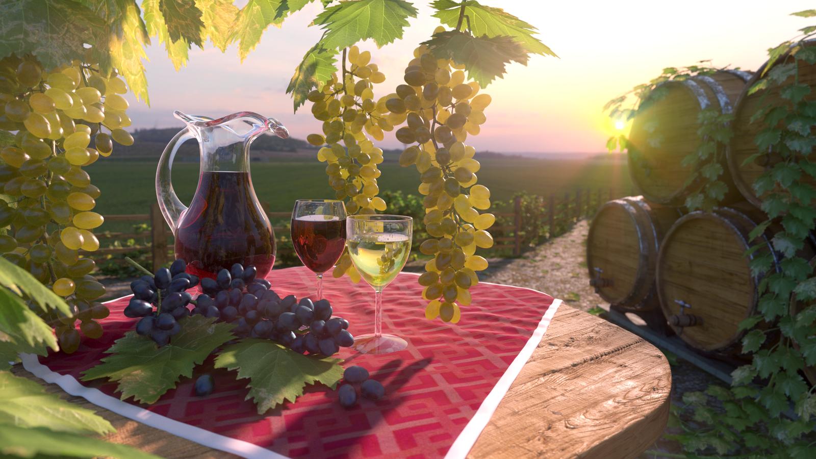 виноград в блендере