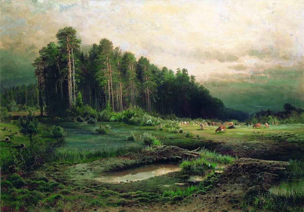 Обои Пейзаж с Грозой, картина, дома, Клод Моне, лодка. Разное foto 19