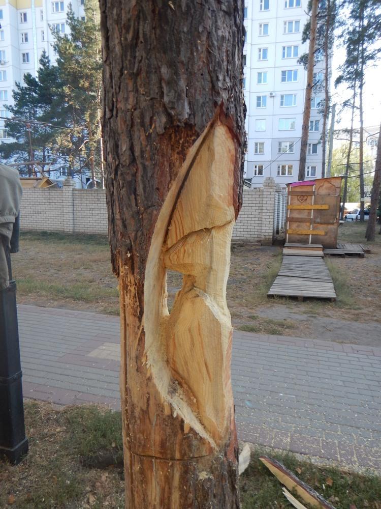 Резные памятники Тайга памятник с ангелом Багратионовск