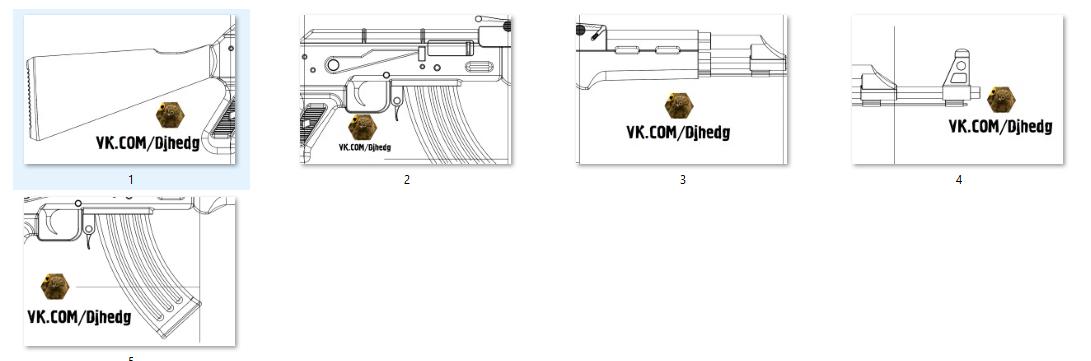 Макет массогабаритный автомата Калашникова, аК -74