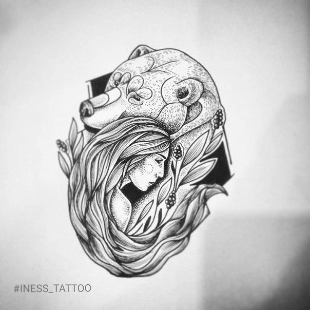 медведь татуировки фото