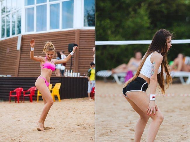 Сексуальные девушки из пляжного волейбола