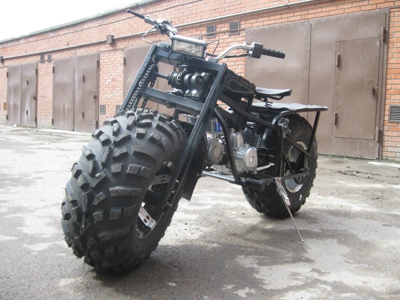 Мотоцикл полный привод своими руками 9