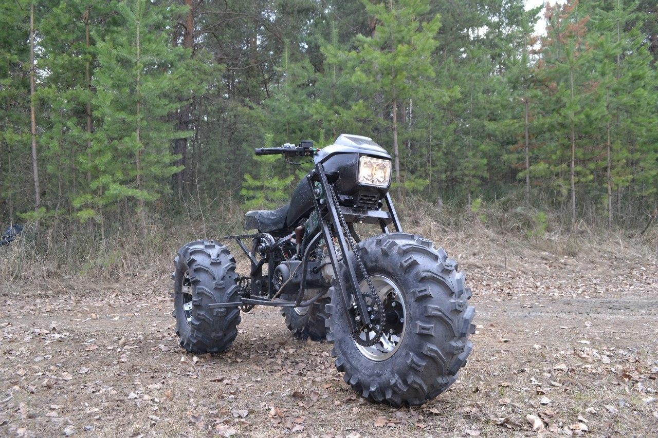 Мотоцикл полный привод своими руками 156