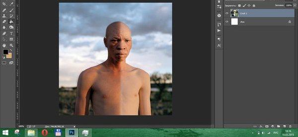 Photoshop сделать негра